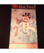 Happy Dancing Snowman Christmas Dish Towel by Fiddlers Elbow Absorbent L... - $39.99