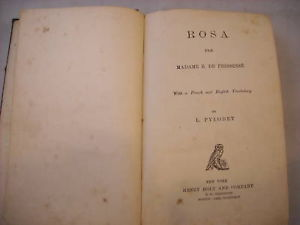 Hardcover Fiction French 1869 Rosa Educational