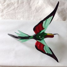 Hand Blown Hummingbird Bee eater Window Ornament  #5 in green red yellow image 4