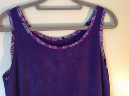 Hand Made Purple Sleeveless Dress Perfect for Summer Measurements Below image 2
