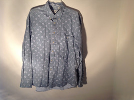 Light Green Gray Button Up Long Sleeve Design White Shields Fieldmaster Size L