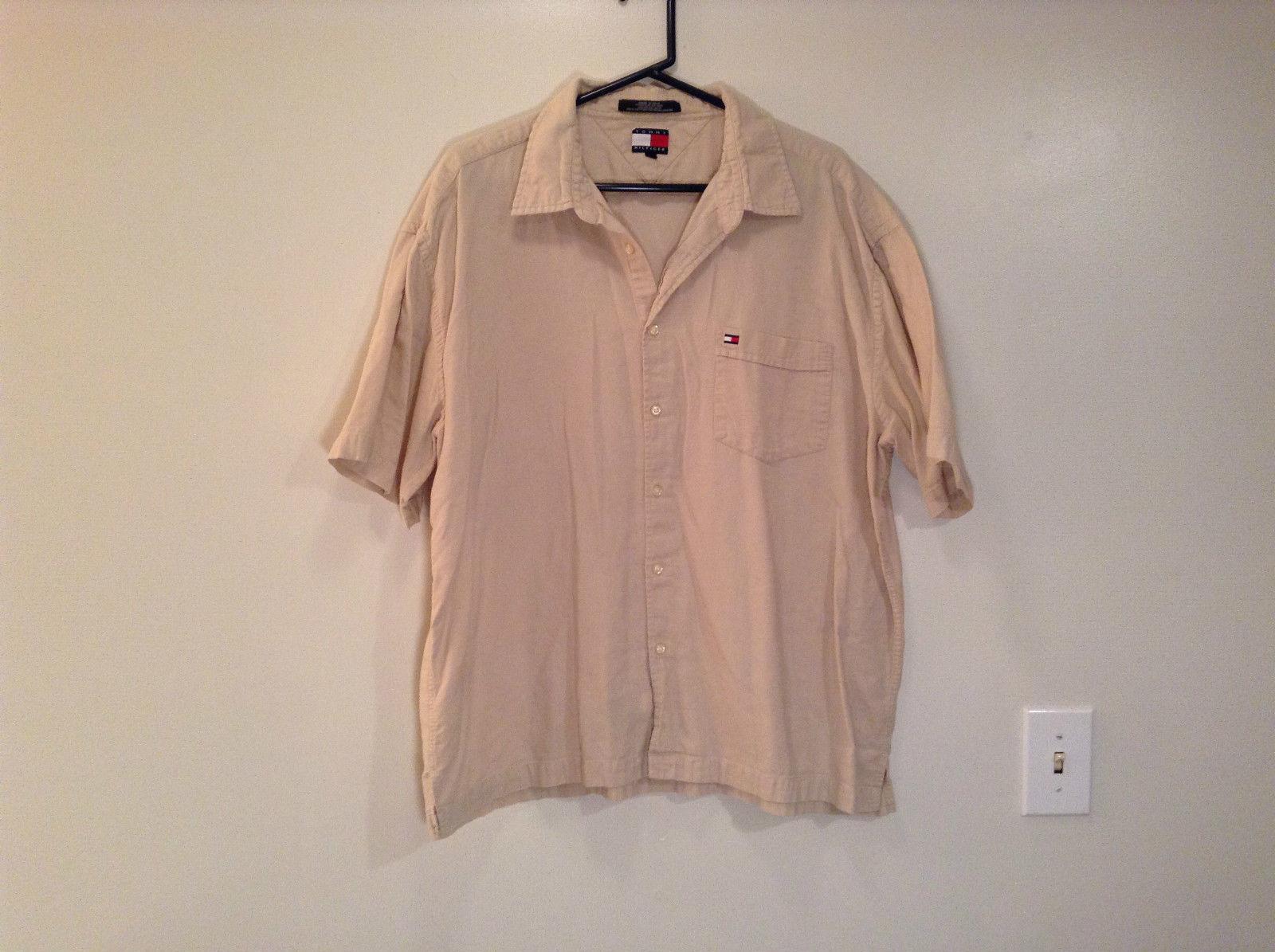 Light Tan Sand Short Sleeve Tommy Hilfiger 100 Percent Cotton Shirt Size XXL
