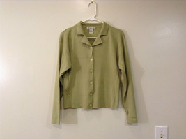 Light Olive Green Long Sleeve V Neck Sweater V A S Clothing Company Size Small