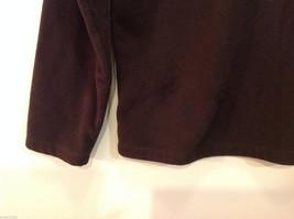 Lands End Dark Brown Fleece 100% Polyester Sweatshirt Sweater, Size L (14-16) image 7