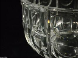 "Large 8"" diameter Geometric Patterned Heavy Cut Glass Serving Bowl Centerpiece image 4"
