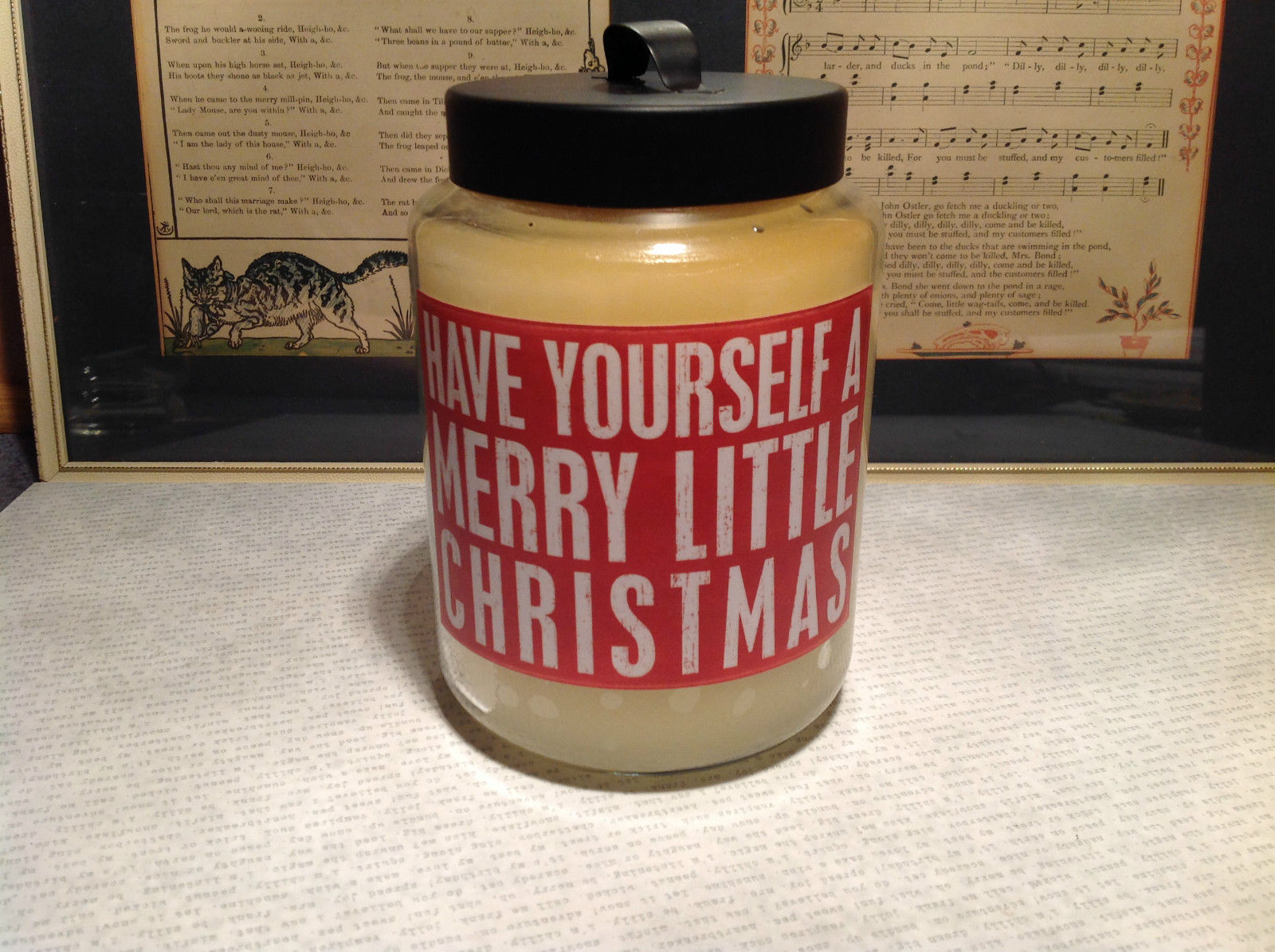 Have Yourself A Merry Little Christmas Sugar Cook Jar Candle Six Inches High