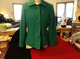 Harve Benard Benard Holtzman Green ladies coat jacket short size 12 wool