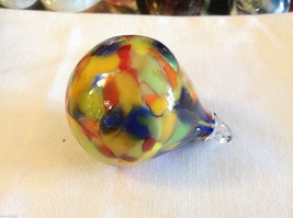 Hand blown heirloom glass Christmas ornament mardi gras party colored teardrop image 4