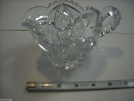 Heavy cut glass creamer no makers mark depression