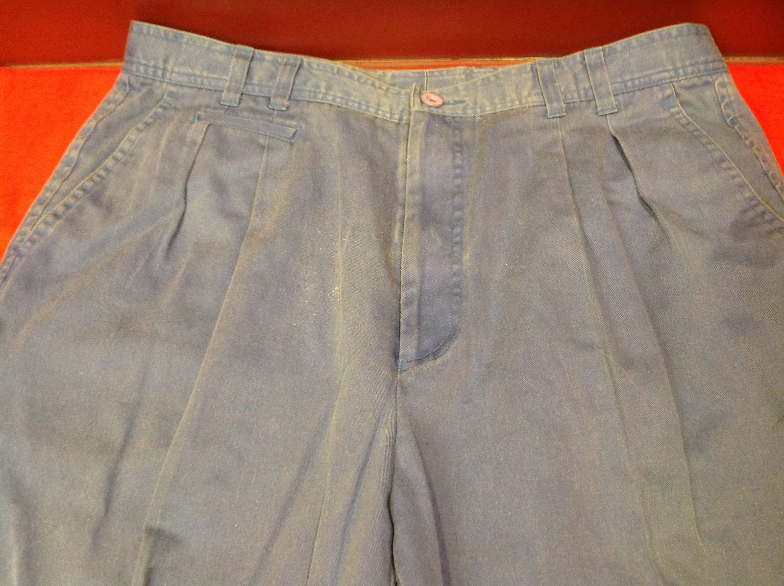 Henry Grethel Design Long Womens Light Blue Casual Pants Size 36/91 cm