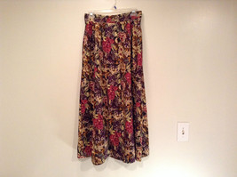 Herman Geist 100 Percent Cotton Size 10 Floral Corduroy Casual Skirt