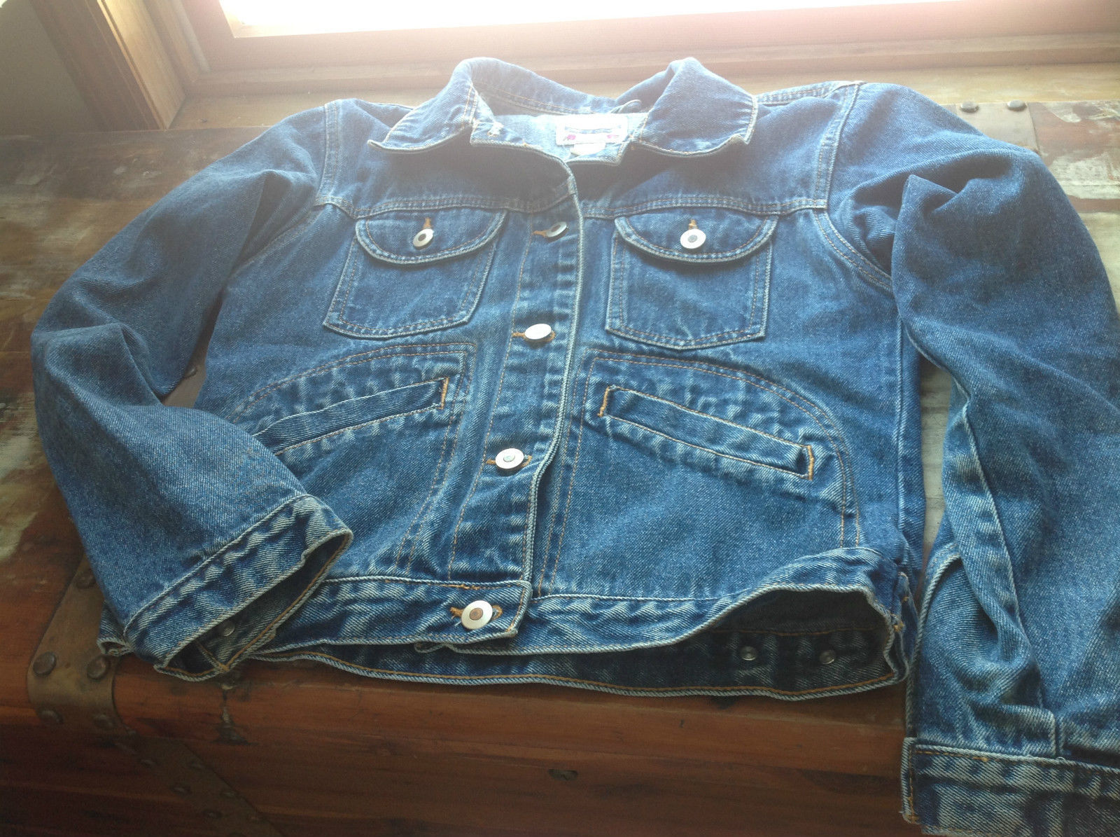 Highway Original Long Sleeve Denim Jacket Size Medium