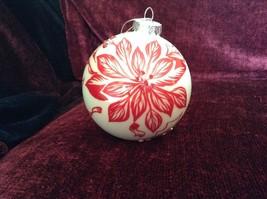 Large Christmas Ornament Peppermint Forest Pointsettia Design Department 56 image 7