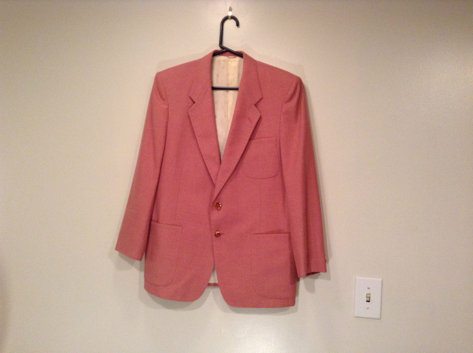 Lined Pink Blazer 2 Button Closure 2 Front Pockets Ratner Clothes No Size Tag