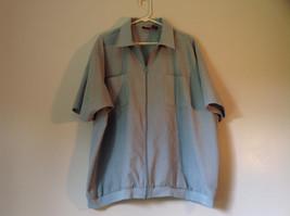 Lions Den Blue Light Gray Short Sleeve Zipper Closure Casual Shirt Size XXL image 1