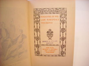 History of Pendennis by Thackeray Astor Prose Series