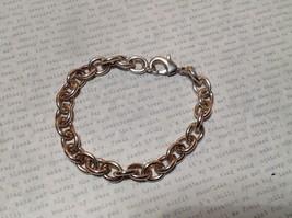 Large Chain Links Silver Plain Bracelet Lobster Clasp Closure image 2