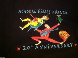 Historical limited  run T shirt  in black commemorating Ashokan camp Farewell