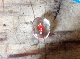 Holiday Clear Touch Stone with Candy Cane in Center image 1