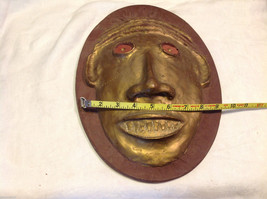 Hand made decorative wall art mask plaster cast and painted signed image 5