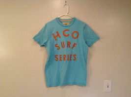 Hollister Light Blue Short Sleeve 100 Percent Cotton T Shirt Size XL