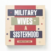 Home Decor sign Military Wives - A sisterhood red white and blue