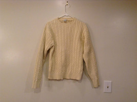 Long Sleeve Yellow Hand Framed Knitted 100 Percent Cotton Sweater Size XL