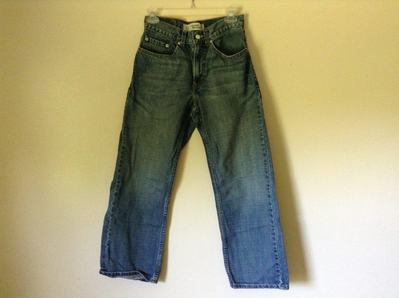 Loose Straight Leg Size 16 Regular 100 Percent Cotton Levis Jeans