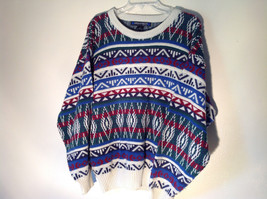 Long Sleeve Warm Blue White Red Navy Blue Green Design Sweater Architect Size M