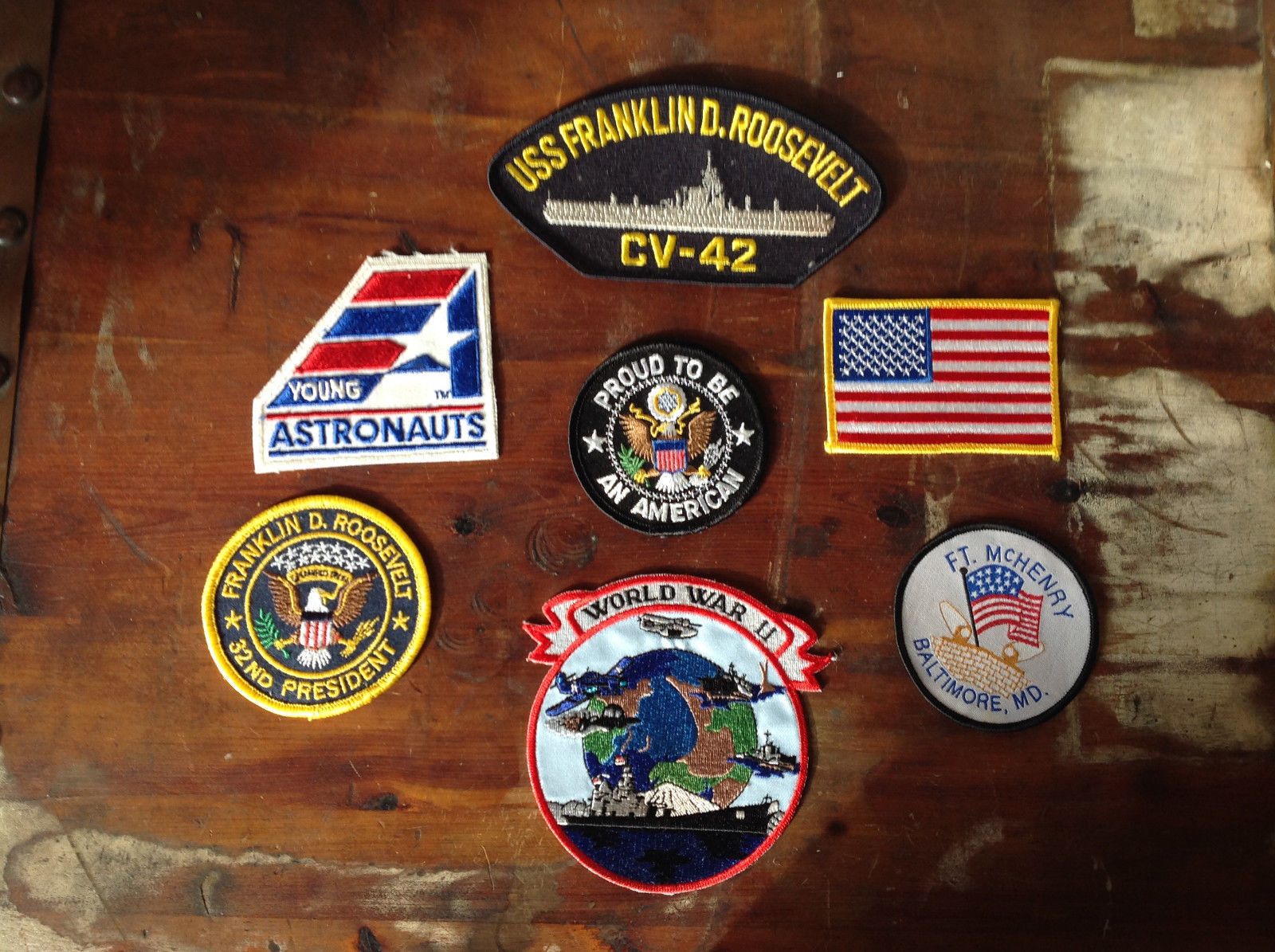 Lot of 7 Proud to Be An American Patches 6 Patches are Iron On