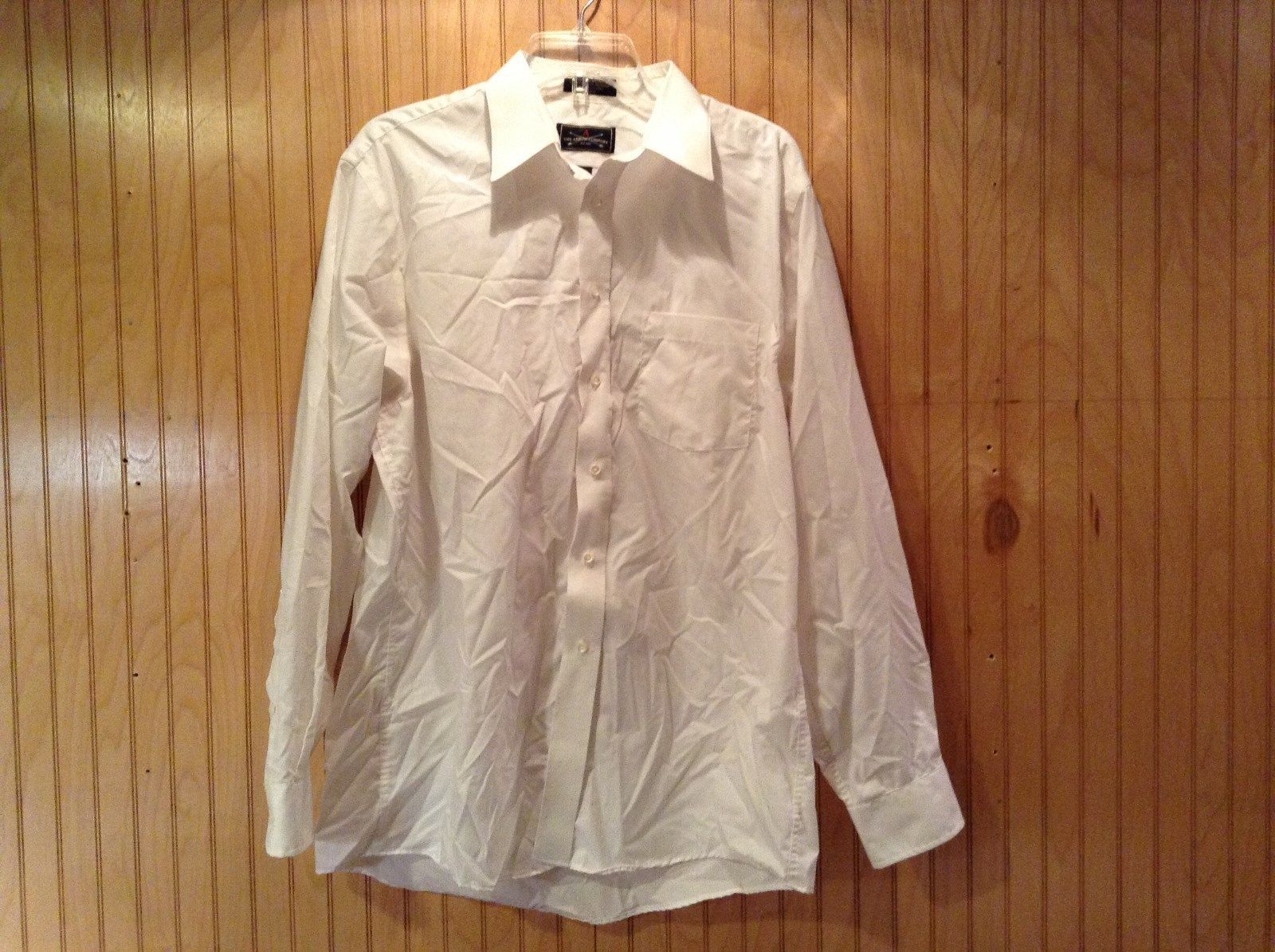 Long Sleeve White Dress Shirt The Arrow Company Button Down Size 34 to 35
