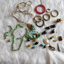 Lot of loose Beads for Restringing Repurposing Different Colors, Shapes, Sizes image 1