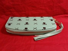 Hand purse clutch wallet with Skull and Crossbones in choice of color image 2