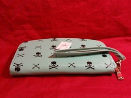 Hand purse clutch wallet with Skull and Crossbones in choice of color image 3