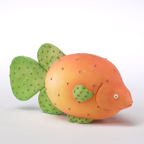 Home Grown Prickly Pear Spotted Scat Fish Play w your Food Sculpted Figurine