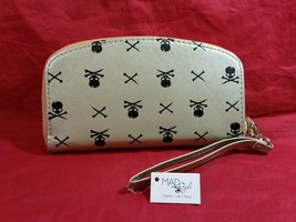 Hand purse clutch wallet with Skull and Crossbones in choice of color image 7