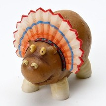 Home Grown  Potato Hippo w Head dress   Play with your Food Sculpted Figurine