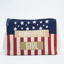 Homefront Girl travel cosmetic bag red white and blue