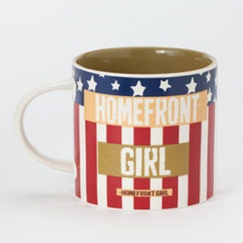 Homefront Girl mug red white and blue