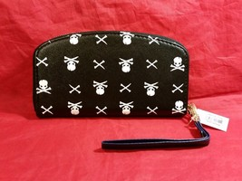 Hand purse clutch wallet with Skull and Crossbones in choice of color image 6