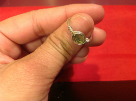 Homemade 6,1 quarter ring wrap germanium to prevent tarnish light green silver