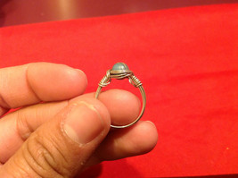 Homemade 2 quarter ring wrap germanium to prevent tarnish light sea brown