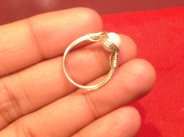 Homemade 4, 2 quarter ring wrap germanium to prevent tarnish Rock White River