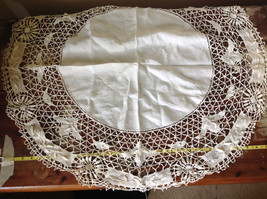 Large Circular Off White Doily Creative Design 31 Inches Across image 5