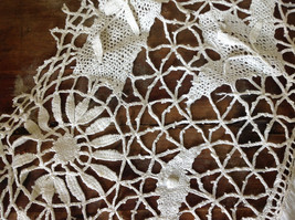 Large Circular Off White Doily Creative Design 31 Inches Across image 3