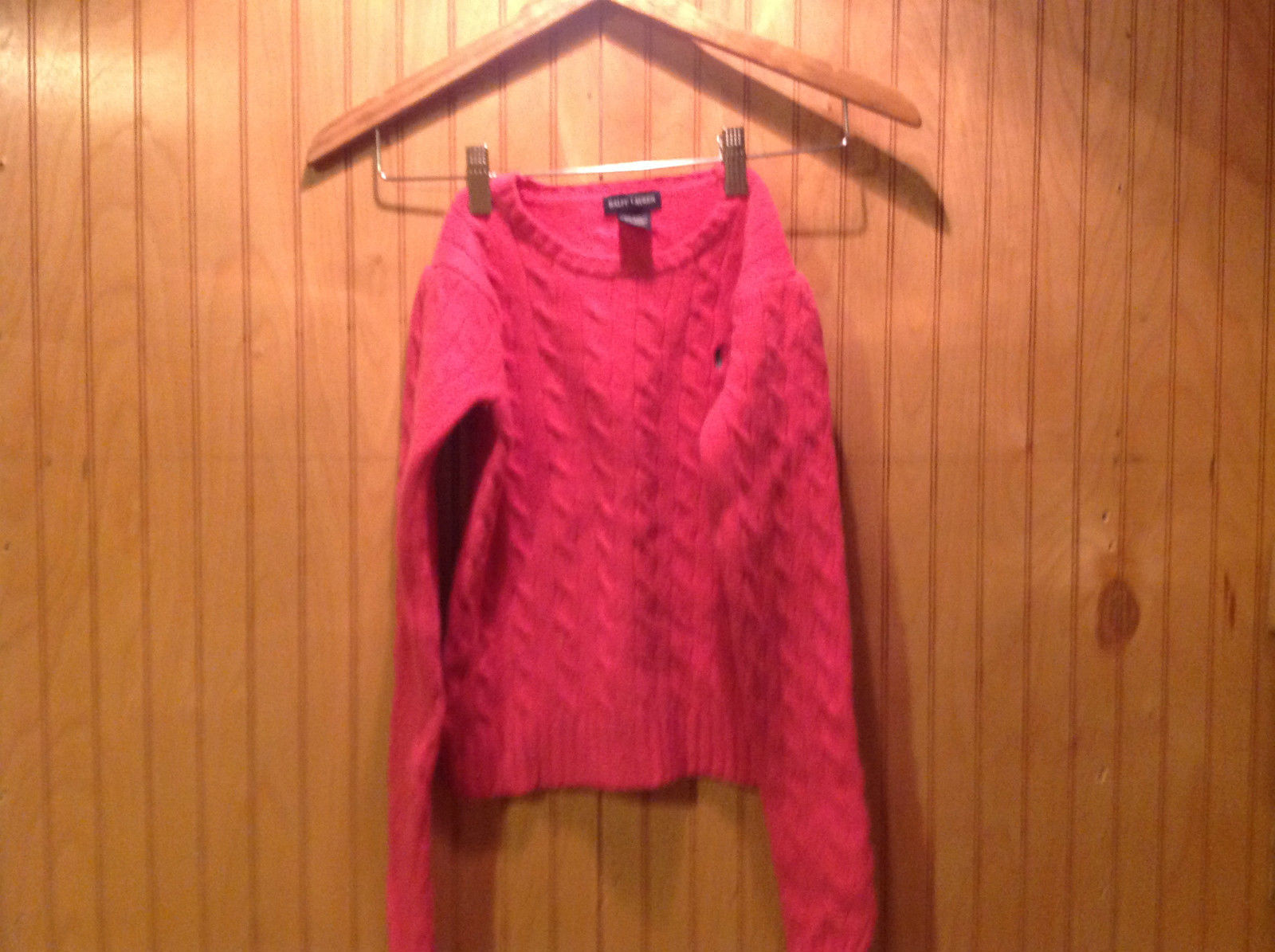Hot Pink Ralph Lauren Long Sleeve Wool Cashmere Blend Sweater No Size Tag