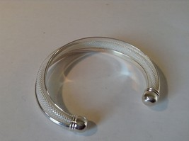 925 Silver Twist Bracelet Adjustable Thick Round Ends image 3