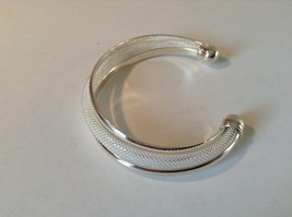925 Silver Twist Bracelet Adjustable Thick Round Ends image 4