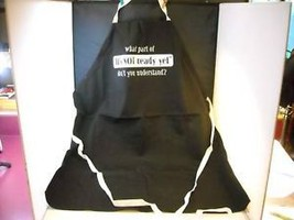 "Humorous Black BBQ Canvas Apron ""It's not ready yet..."""