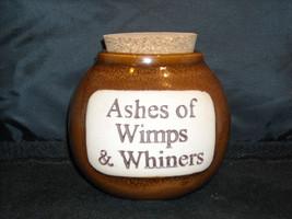 Humorous Ash Jar Decorative Ceramic Collectible  Glazed image 1